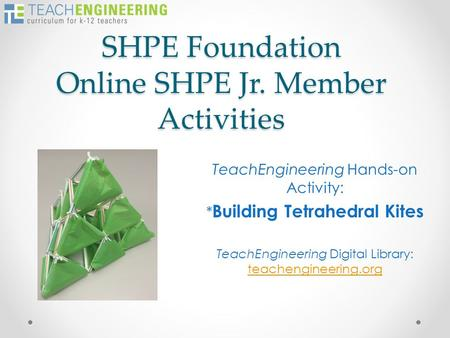 SHPE Foundation Online SHPE Jr. Member Activities