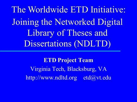 ttu thesis etd Louisiana tech university students are also advised to make the corrections noted on the thesis/dissertation before returning the document for.