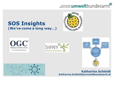 SOS Insights (We've come a long way…) Katharina Schleidt