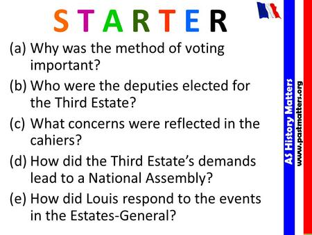 AS History Matters www.pastmatters.org AS History Matters www.pastmatters.org S T A R T E R (a)Why was the method of voting important? (b)Who were the.