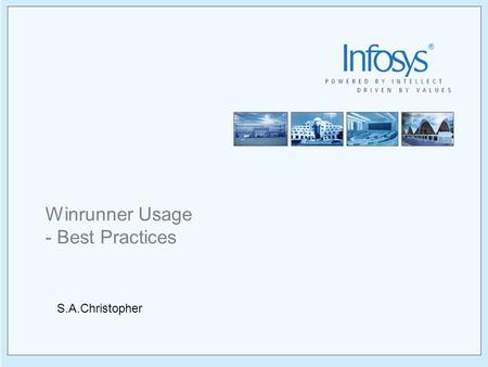 Winrunner Usage - Best Practices S.A.Christopher.