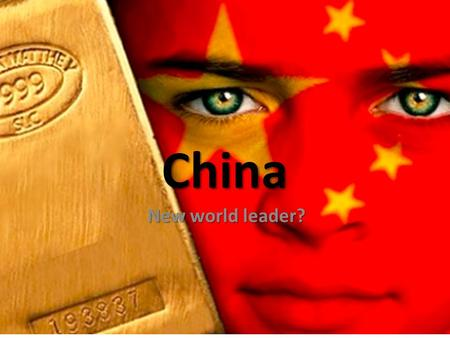 China New world leader?.  In the past few years China established a string of currency swaps with other nations to settle trade, bypassing the dollar.
