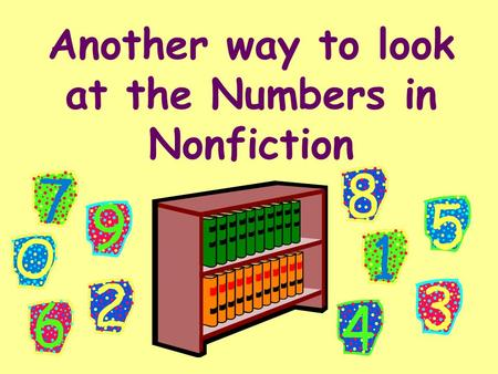Another way to look at the Numbers in Nonfiction.