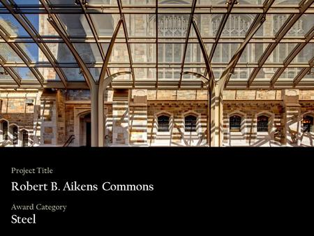 Project Title Robert B. Aikens Commons Award Category Steel.