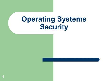 1 Operating Systems Security. 2 Where Malware hides ? Autoexec.bat or autoexec.nt can start malware before windows start Config.sys, config.nt Autorun.inf.