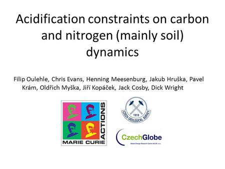 Acidification constraints on carbon and nitrogen (mainly soil) dynamics Filip Oulehle, Chris Evans, Henning Meesenburg, Jakub Hruška, Pavel Krám, Oldřich.