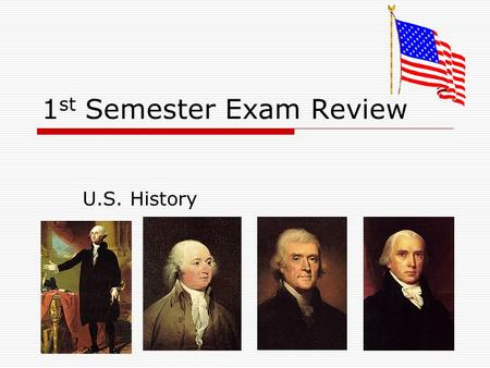 1 st Semester Exam Review U.S. History. 1. Which country was promised United States lands if it joined Germany during WWI?