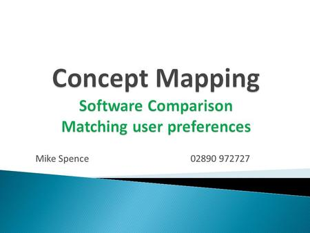 Mike Spence02890 972727. General appearance of map Ease of use Export capabilities Additional features.