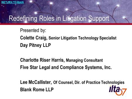 Managing, Hiring and Motivating Litigation Support Staff Andrew Hall ...