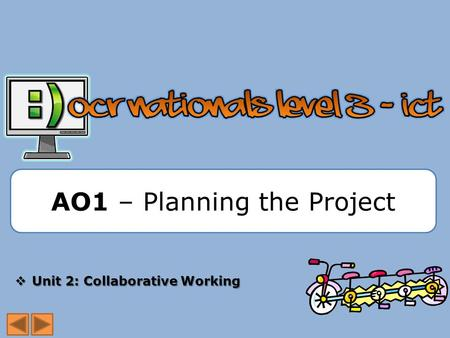 AO1 – Planning the Project  Unit 2: Collaborative Working.