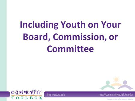 Including Youth on Your Board, Commission, or Committee.