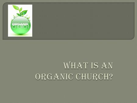  In the next slide we are going to explore some bible verses in which we can find the origin of an organic church. You can see some churches starting.