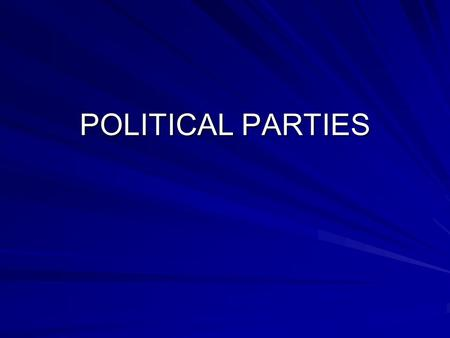 POLITICAL PARTIES. How do U.S. political parties differ from European parties? European voters are more loyal Federal system decentralizes power Parties.