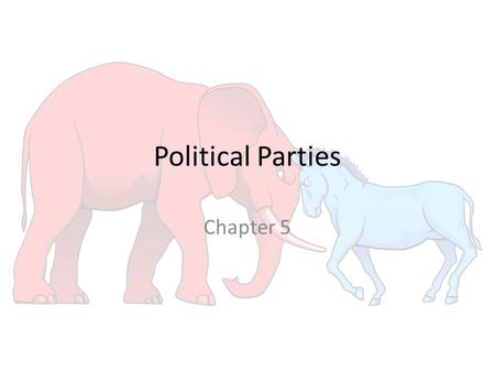Political Parties Chapter 5. THE TWO-PARTY SYSTEM IN AMERICAN HISTORY Section 2.