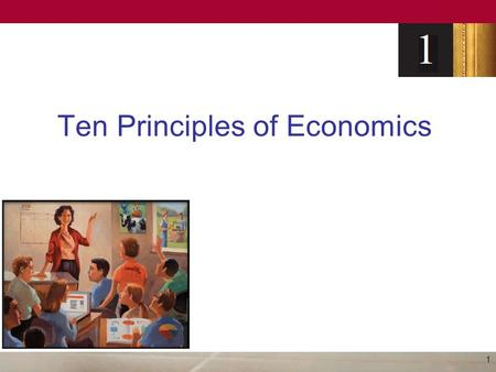 "Ten Principles of Economics 1. Economy – ""oikonomos"" (Greek) –""One who manages a household"" Households, Firms and Society make many decisions –What to."