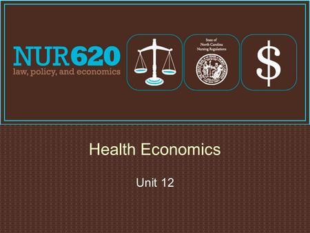 Health Economics Unit 12. 2 Definition of Economics  Demand − relationship between quantities and prices that addresses how much bought at each price.