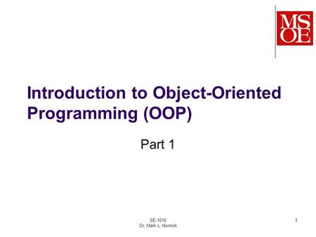 """introduction to object oriented programming concepts Introduction to object oriented programming 44  the history of """"oop"""" object oriented programming and """"pop  emphasis on conveying concepts first."""