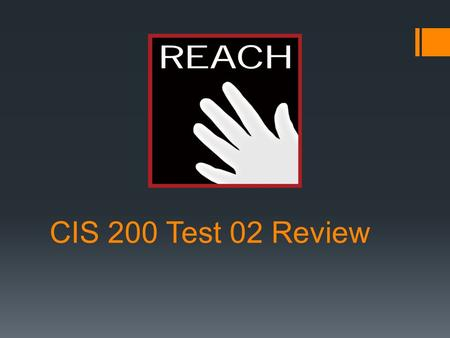 CIS 200 Test 02 Review. Windows Forms, GUI Programming  Elements  Textboxes  Tab Groups  Checkboxes  Fields  Event Handlers  Visual Studio Designer.