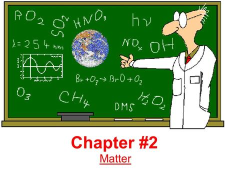 Chapter #2 Matter. Notes 2.1 Chemistry: is the branch of science that studies composition of matter and how it changes. Matter: is anything that has mass.