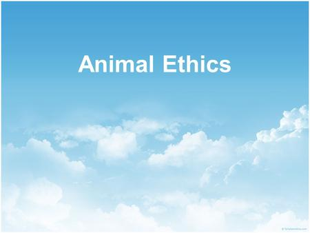 Animal Ethics. In this lecture…  Kant  Singer  Regan  Factory farming  Animal experimentation.