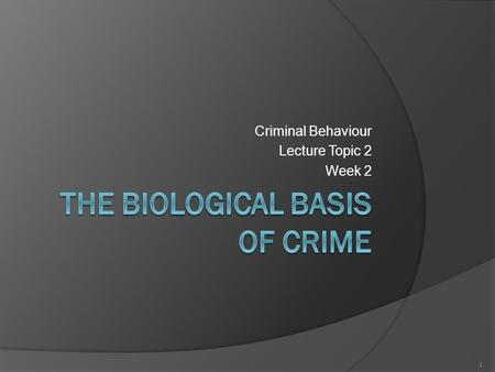 contemporary theories of crime As opposed to most criminology theories these do not  draws upon control theories and explains crime in terms of  while contemporary criminology has been.