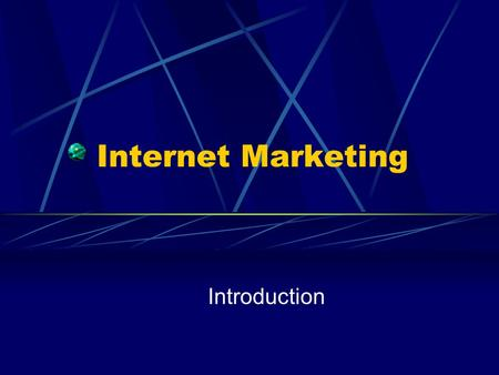 Internet Marketing Introduction. Parallels with the dawn and growth of TV 1936 – first TV broadcast TV's impact on distance and time The Andrea Doria.