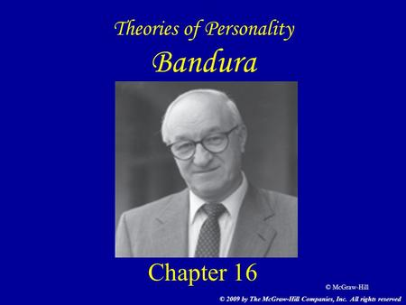 Theories of Personality Bandura