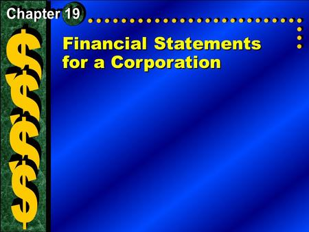 Financial Statements for a Corporation. Why It's Important The income statement reports the net income or loss for the period and indicates whether or.