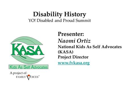YO! Disabled and Proud Summit