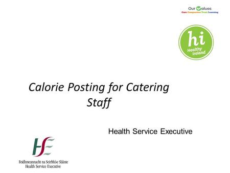 Calorie Posting for Catering Staff