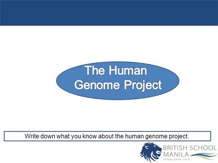Write down what you know about the human genome project.