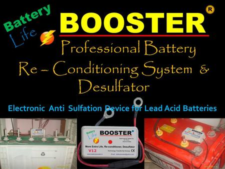 Battery Life BOOSTER Professional Battery Re – Conditioning System & Desulfator R Electronic Anti Sulfation Device for Lead Acid Batteries.