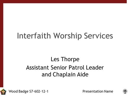 Interfaith Worship Services
