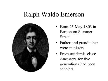 "an analysis of ralph waldo emersons contribution to american literature Was ralph waldo emerson had on american literature of new england transcendentalism in ""the american scholar,"" emerson."