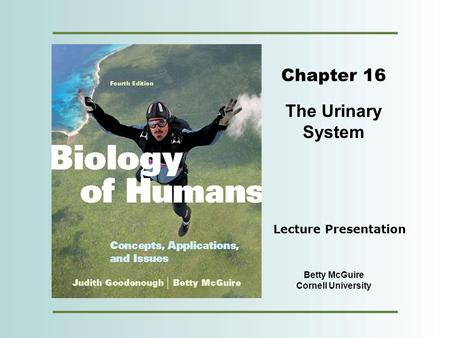 Copyright © 2012 Pearson Education, Inc. Chapter 16 The Urinary System Betty McGuire Cornell University Lecture Presentation.