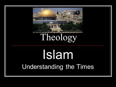 "Theology Islam Understanding the Times. What is Islam? Islam means ""submission"" A follower of Islam is called a Muslim A devout Muslim is ""one who submits"""