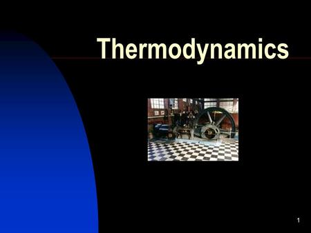 1 Thermodynamics. 2 A few reminders TEMPERATURE determines the direction of flow of thermal energy between two bodies in thermal equilibrium HOTCOLD.