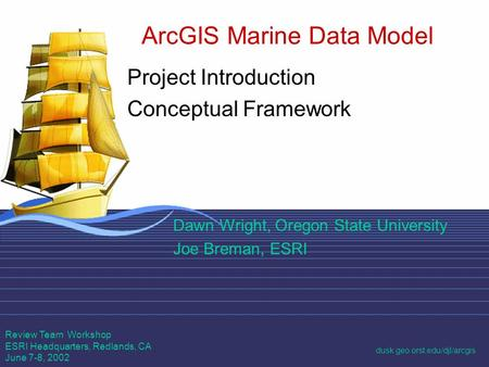 ArcGIS Marine Data Model