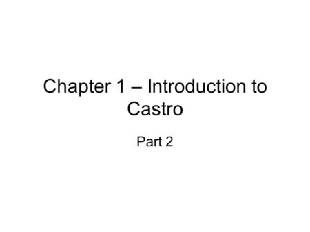 Chapter 1 – Introduction to Castro Part 2. How to study the Ocean?