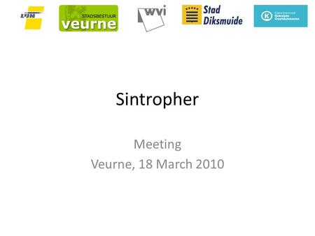 Sintropher Meeting Veurne, 18 March 2010. Main access possibilities towards Veurne.