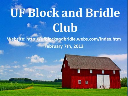 UF Block and Bridle Club Website:  February 7th, 2013.