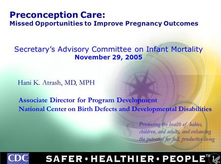Secretary's Advisory Committee on Infant Mortality