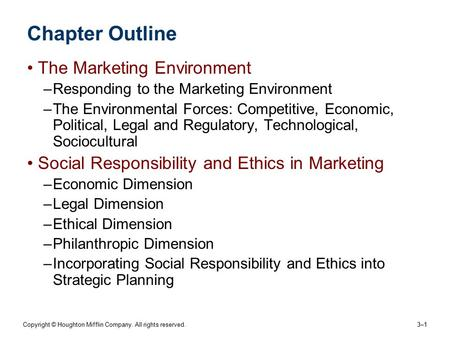 ethics social responsibility and strategic planning essay