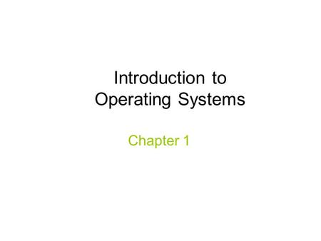Introduction to Operating Systems Chapter 1. cs431 -cotter2 Lecture Objectives Understand the relationship between computing hardware, operating system,