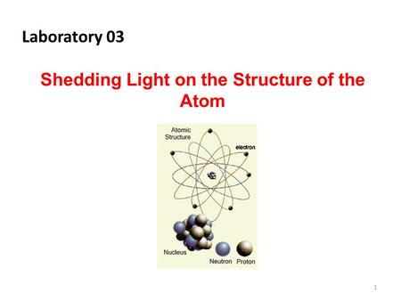 Shedding Light on the Structure of the Atom