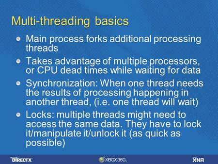 Multi-threading basics