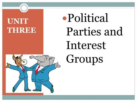 UNIT THREE Political Parties and Interest Groups.