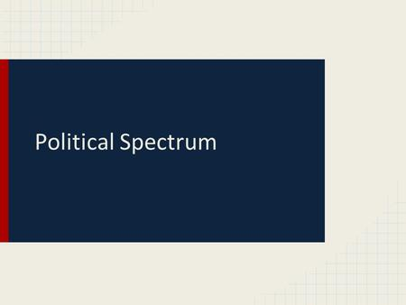 Political Spectrum. 1.13.2015 Students will understand the purpose of political parties Please get out wherever you take notes for this class! Agenda: