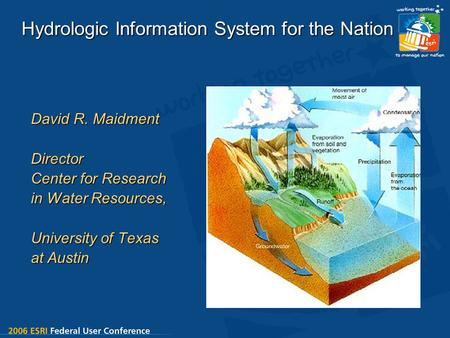 Hydrologic Information System for the Nation David R. Maidment Director Center for Research in Water Resources, University of Texas at Austin.