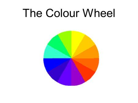 The Colour Wheel. Primary Colours Red, Yellow and Blue.